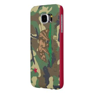 California Republic Camouflage Flag Samsung Galaxy S6 Case