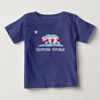 California Republic Chicago Transplant Flag Mashup Baby T-Shirt