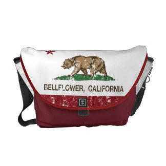 California Republic Flag Bellflower Messenger Bags