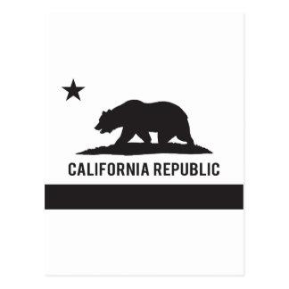California Republic Flag - Black Postcard