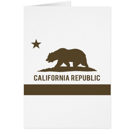 California Republic Flag - Brown Card
