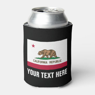 California Republic flag can coolers beer holders Can Cooler