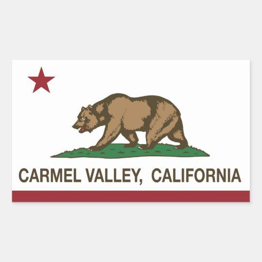California Republic flag carmel valley Sticker