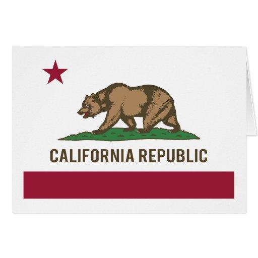 California Republic Flag - Color Greeting Cards
