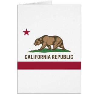 California Republic Flag - Color Greeting Card