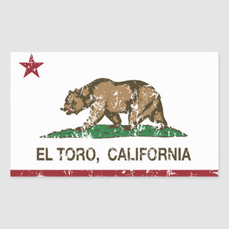 California Republic Flag El Toro Sticker