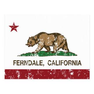 California Republic Flag Ferndale Postcard