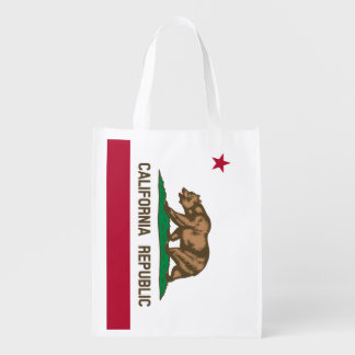 California Republic flag grocery shopping bag