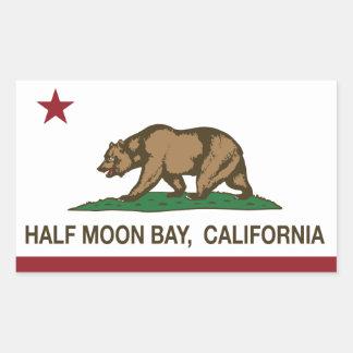 California Republic Flag Half Moon Bay Sticker
