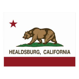 California Republic Flag Healdsburg Postcard