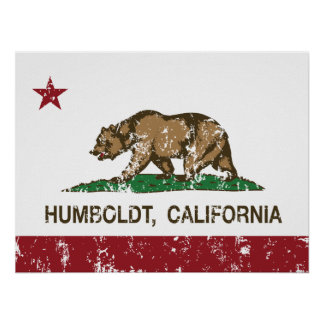 California Republic Flag Humboldt Poster