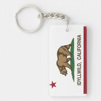 California Republic Flag Idyllwild Keychain