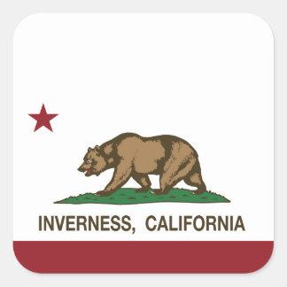 California Republic Flag Inverness Square Sticker