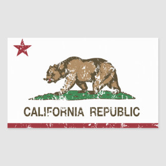 California Republic Flag Lake Arrowhead Sticker