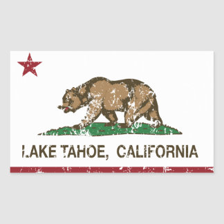 California Republic Flag Lake Tahoe Sticker