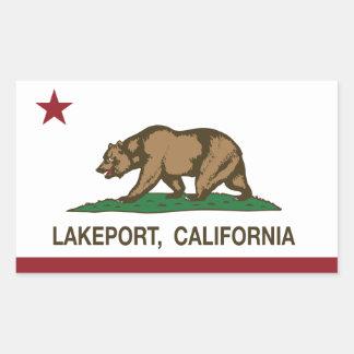 California Republic Flag Lakeport Sticker