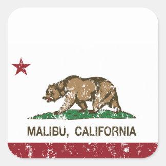 California Republic Flag Malibu Square Sticker