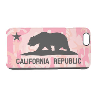 California Republic Flag Mexican Cameo Star Bear Clear iPhone 6/6S Case