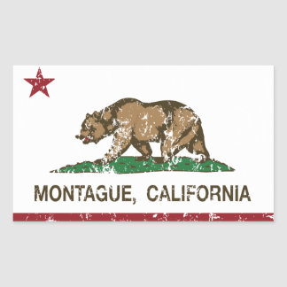 California Republic Flag Montague Sticker