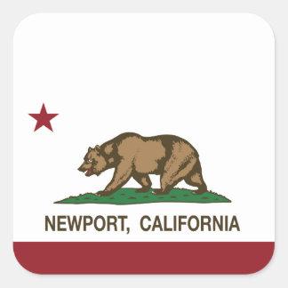 California Republic Flag Newport Square Sticker