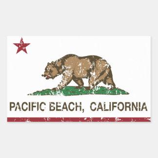 California REpublic Flag Pacific Beach Sticker