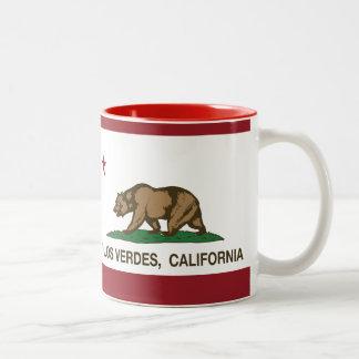 California Republic Flag Palos Verdes Two-Tone Coffee Mug
