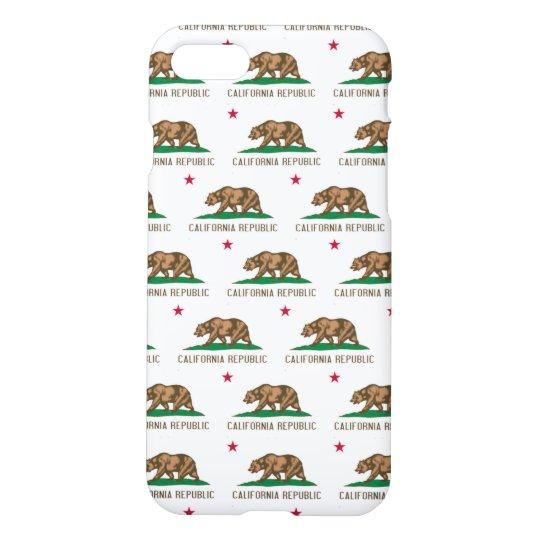 California Republic Flag Pattern iPhone 7 Case
