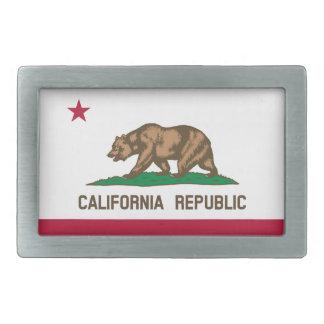 California Republic Flag Rectangular Belt Buckles