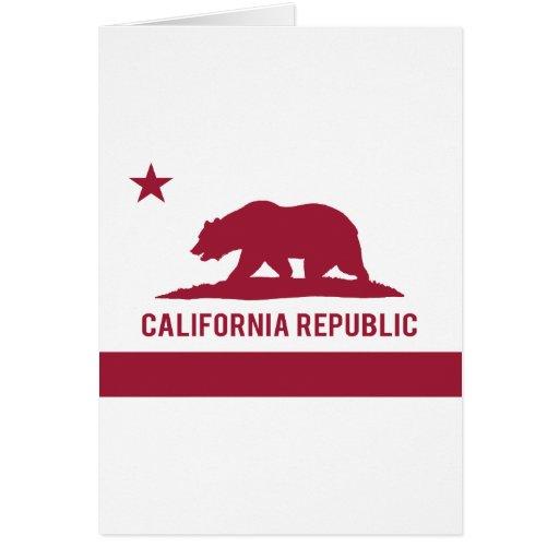 California Republic Flag - Red Greeting Card