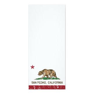 California Republic Flag San Pedro Card