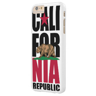 California Republic Flag Stacked Barely There iPhone 6 Plus Case