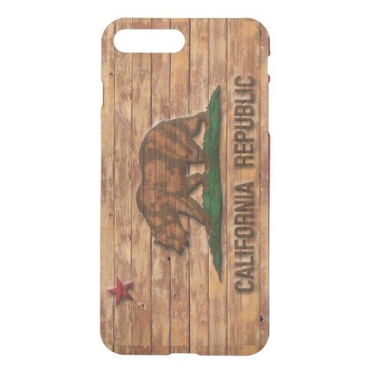 California Republic Flag Vintage Wood Design iPhone 8 Plus/7 Plus Case