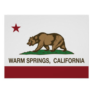 California Republic Flag Warm Springs Print