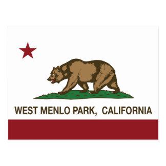 California Republic Flag West Menlo Park Postcard