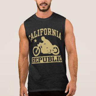 California Republic Motorcycle Bobber Sleeveless Shirt