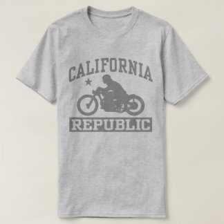 California Republic Motorcycle Bobber T-Shirt