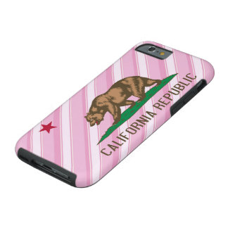 California Republic Pink Stripes Flag Tough iPhone 6 Case