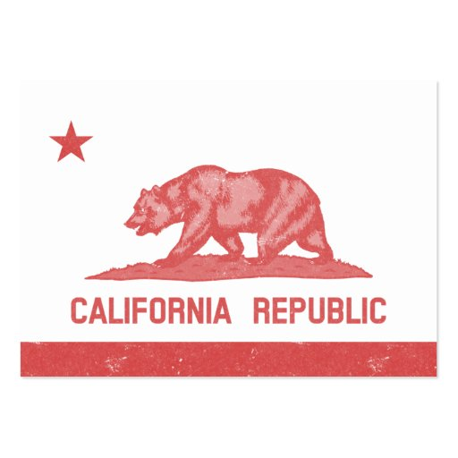 California Republic (Red) Business Cards