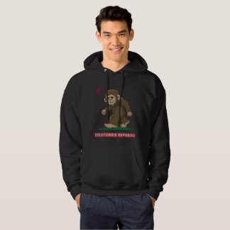 California Republic Sasquatch Bigfoot Flag Hoodie
