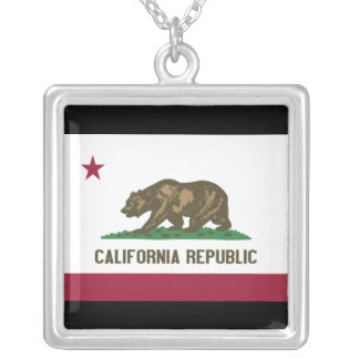 California Republic Silver Plated Necklace