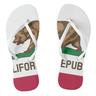 California Republic state bear flag flip flops