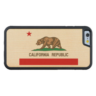 California Republic State Flag Carved Maple iPhone 6 Bumper Case