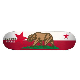 CALIFORNIA REPUBLIC State Flag Fitted Designs Skate Boards