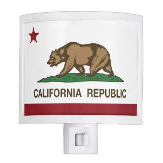 California Republic State Flag Night Lites