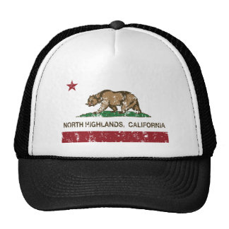 California republic state flag North Highlands Trucker Hat