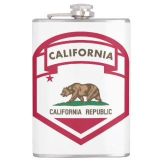 California Republic State flag shield Hip Flask