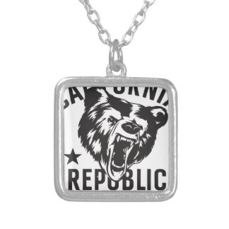 California Republic State of Mind Silver Plated Necklace