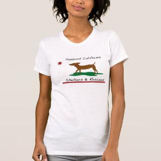 California Republic Style Dog Rescue T-Shirt