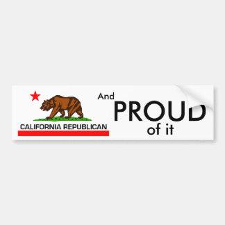 California Republican Bumper Sticker
