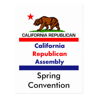 California Republican CRA Postcard